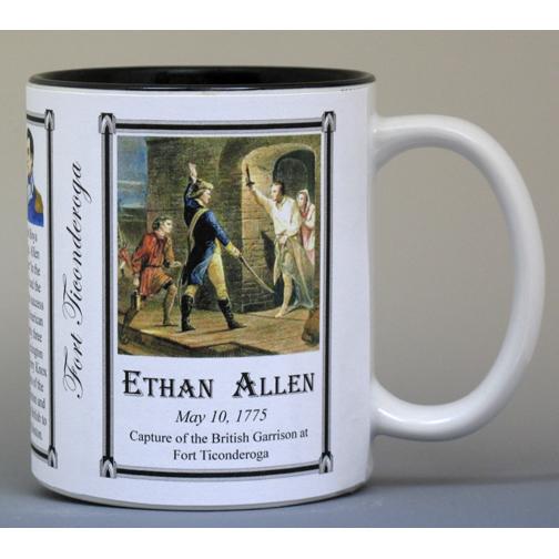 Ethan Allen Fort Ticonderoga history mug.