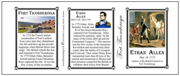 Ethan Allen Fort Ticonderoga history mug tri-panel.