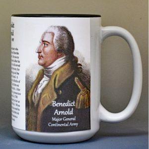 Benedict Arnold, Fort Ticonderoga biographical history mug.