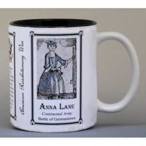 Anna Maria Lane Revolutionary War history mug.