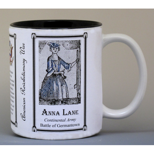 Anna Maria Lane Revolutionary War history mug