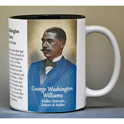 George Washington Williams Civil War Union history mug.