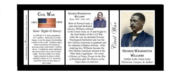 George Washington Williams Civil War history mug tri-panel.