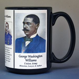 George Washington Williams, Union Army, US Civil War biographical history mug.