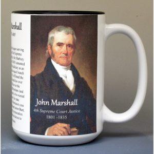 John Marshall, 4th US Chief Justice of the Supreme Court biographical history mug.