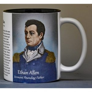 Ethan Allen Fort Ticonderoga biographical history mug.