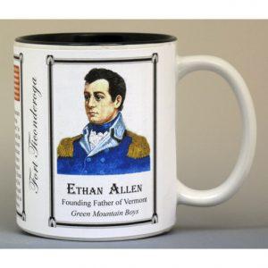 Ethan Allen, Fort Ticonderoga history mug.