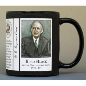 Hugo Black, US Supreme Court history mug.