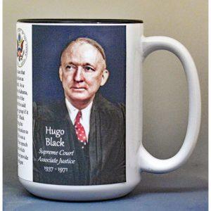 Hugo Black, US Supreme Court Justice biographical history mug.