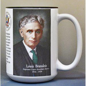 Louis Brandeis, US Supreme Court Justice biographical history mug.