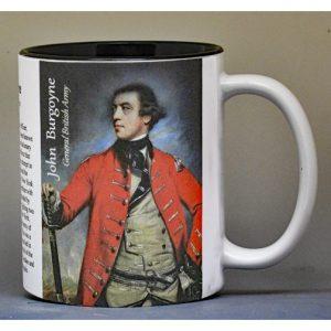 General John Burgoyne, Fort Ticonderoga history mug.