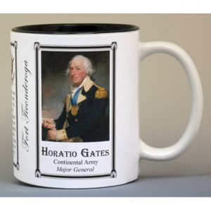 Horatio Gates, Fort Ticonderoga history mug.