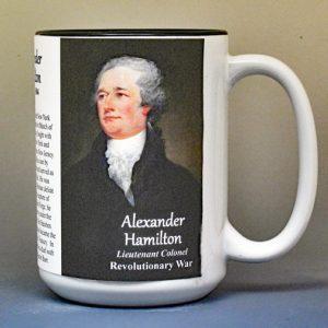 Alexander Hamilton, American Revolutionary War biographical history mug.