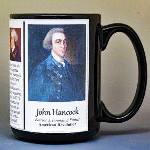 John Hancock, American Revolutionary War biographical history mug.