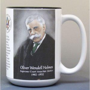 Oliver W. Holmes, US Supreme Court Justice biographical history mug.
