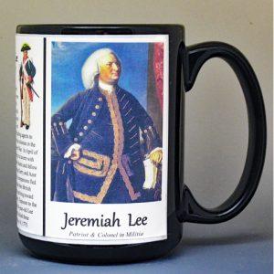 Jeremiah Lee, American Revolutionary War biographical history mug.