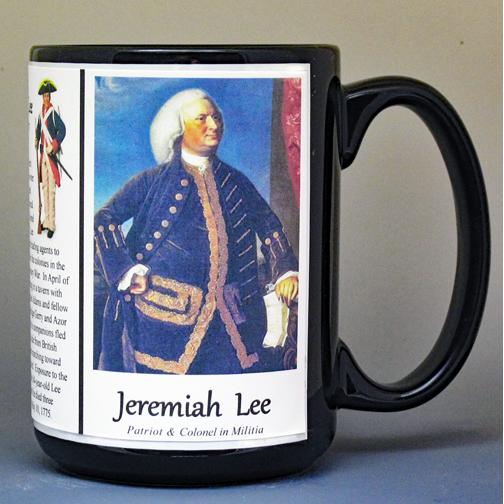Jeremiah Lee, Revolutionary War history mug.