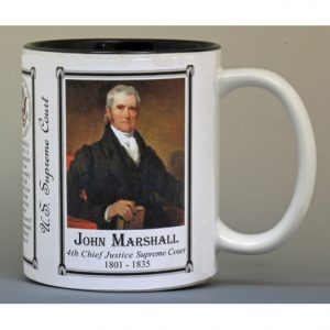 John Marshall, Chief Justice, US Supreme Court history mug.