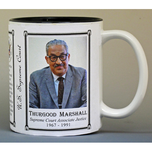 Thurgood Marshall, U.S. Supreme Court history mug.