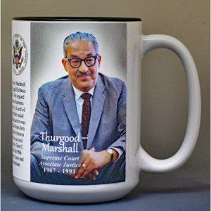 Thurgood Marshall, Supreme Court Justice biographical history mug.