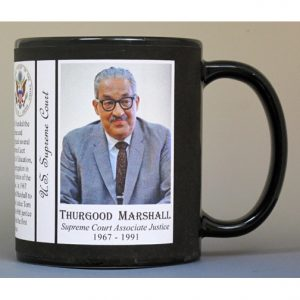 Thurgood Marshall, US Supreme Court history mug.