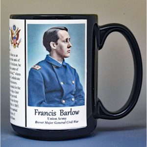 Francis Barlow, Battle of Antietam, Union Army, US Civil War biographical history mug.