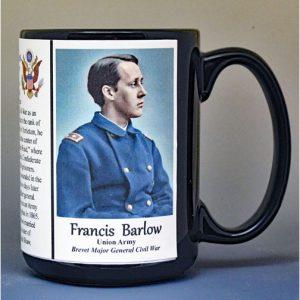 Francis Barlow, Battle of Antietam, Union Army, US Civil War biographical history mug.