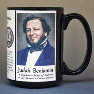 Judah Benjamin, Civil War Confederate biographical history mug.