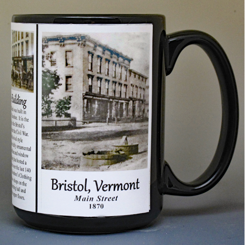Town of Bristol, Vermont, biographical history mug.