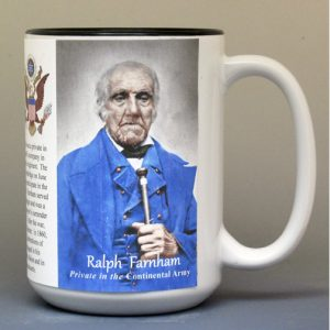 Ralph Farnham, Continental Army biographical history mug.