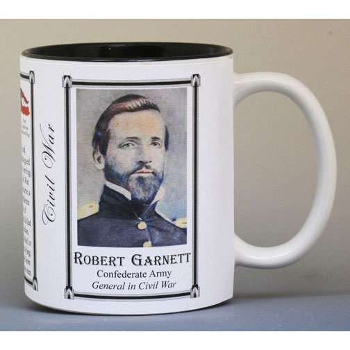 Robert Garnett Civil War history mug.