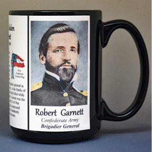 Robert Garnett, US Civil War biographical history mug.