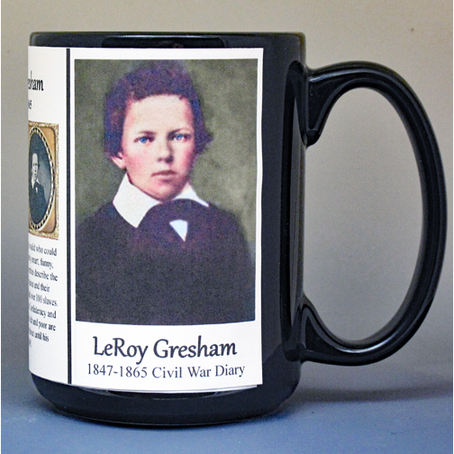 LeRoy Wiley Gresham Civil War history mug.