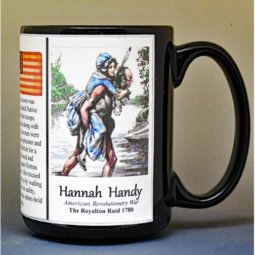 Hannah Handy Revolutionary War history mug.