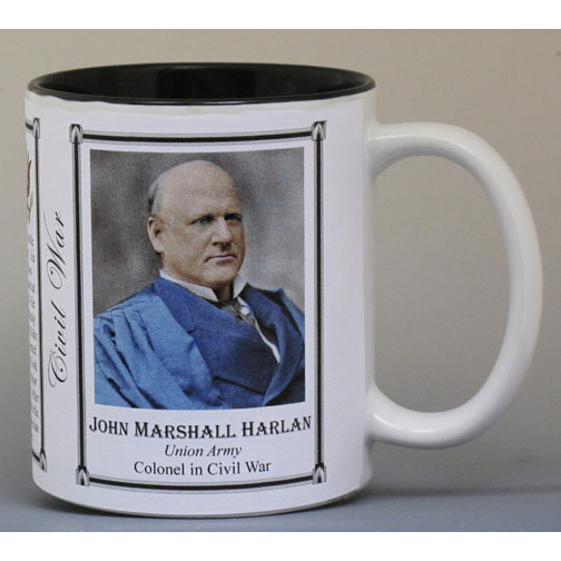 John Marshall Harlan Civil War history mug.