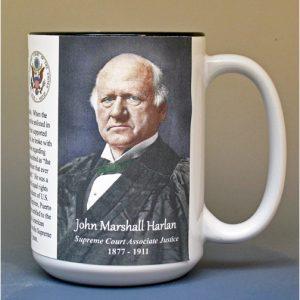 John Marshall Harlan, US Supreme Court Justice biographical history mug.