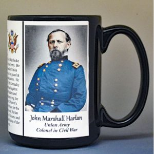 John Marshall Harlan, Union Army, US Civil War biographical history mugs.