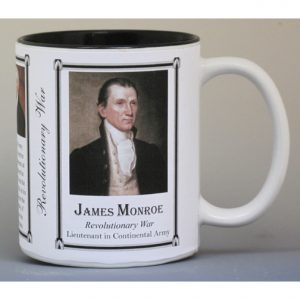 James Monroe Revolutionary War history mug.