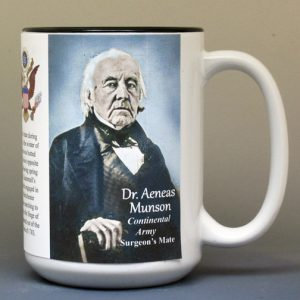 Aeneas Munson, American Revolutionary War biographical history mug.
