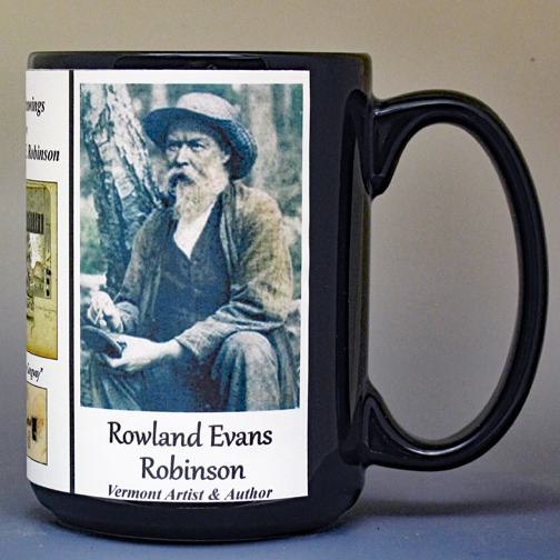 Rowland Evans Robinson Author & Artist history mug.