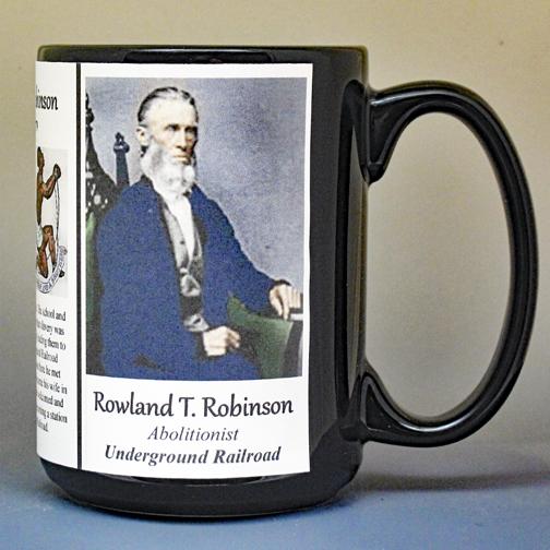 Rowland Thomas Robinson, abolitionist biographical history mug.