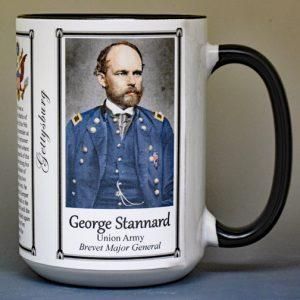 George Stannard, Battle of Gettysburg biographical history mug.