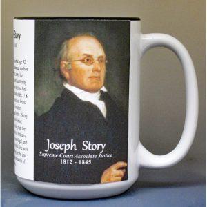 Joseph Story, US Supreme Court Justice biographical history mug.