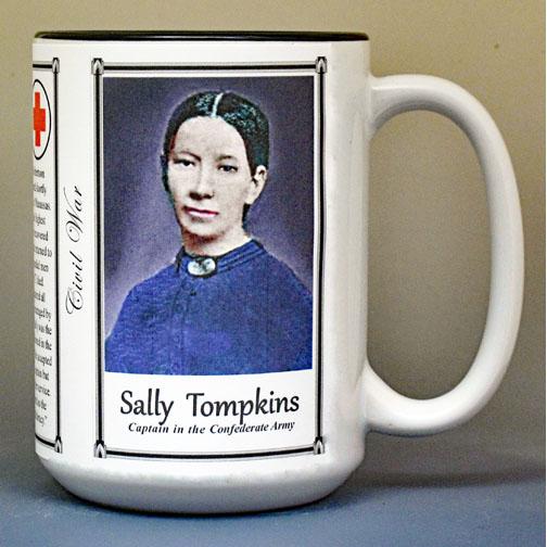 Sally Louisa Tompkins Civil War history mug.