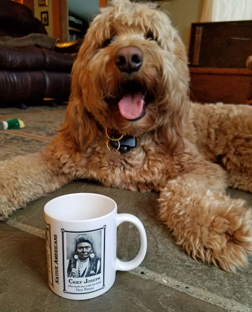 Izzy decided that the Chief Joseph history mug is her favorite.