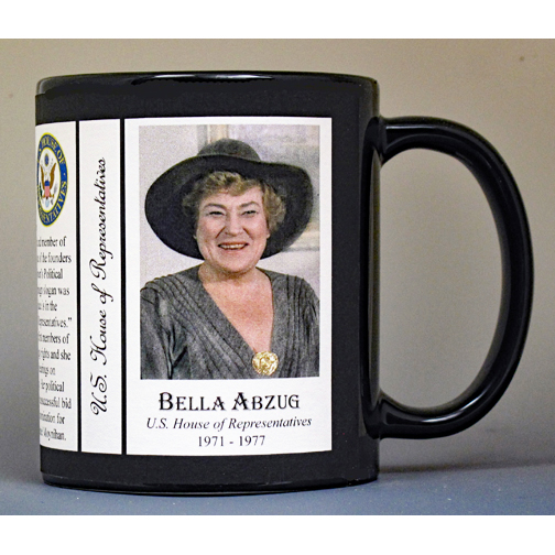Bella Abzug US House of Representative history mug.