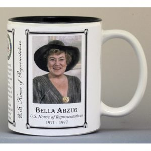 Bella Abzug US House of Representative biographical history mug.