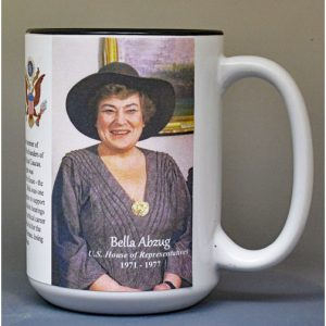 Bella Abzug, US House of Representatives biographical history mug.