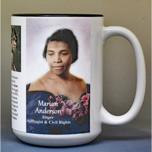 Marian Anderson biographical history mug.