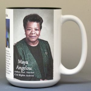 Maya Angelou, author biographical history mug.